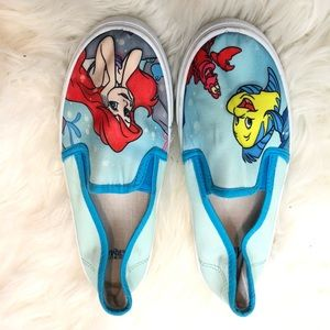 Disney Little Mermaid Slip On Size S Shoe